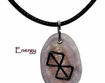 Energy Bone Bind Rune Necklace
