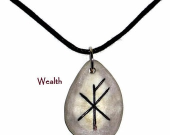 Wealth Bone Bind Rune Necklace