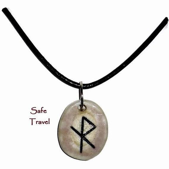 safe travel bone bind rune necklace