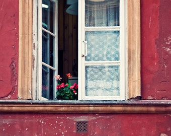 The Red Window ||| Old World Photograph | Fine Art Travel Photography | Romantic Decor | Vintage Charm