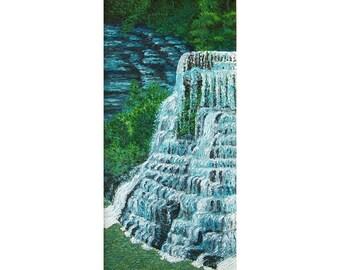 Burgess Falls, 5 x 10 in., giclee print