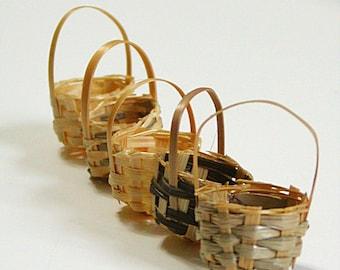 Miniature Basket, Wicker Basket, Natural, Bulk, 23 Packs, Tiny Basket, Small basket, Set of 5, Mini Baskets, Dollhouse, Craft Basket, Wicker