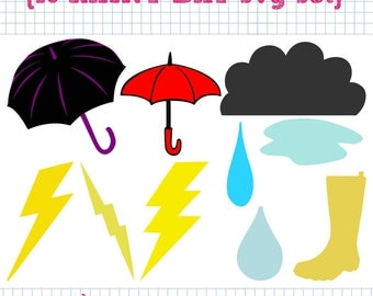 10 Rainy Day SVG DXF Set