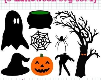 8 Halloween SVG DXF Set 2