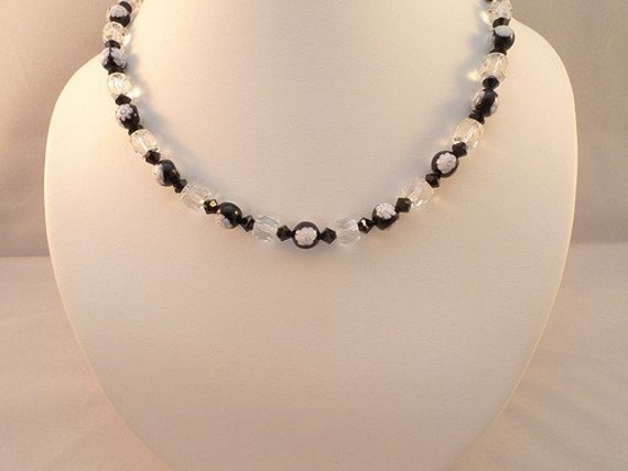 Venetian Millefiori Glass Black 925 Sterling Necklace JoAnna
