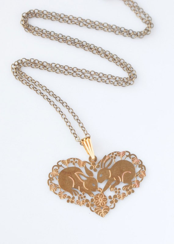 Bunny Necklace, Love Bunny, Heart