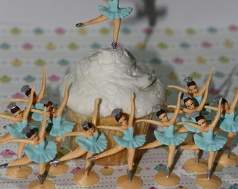 Ballerina - Cupcake Toppers Custom Hand Painted
