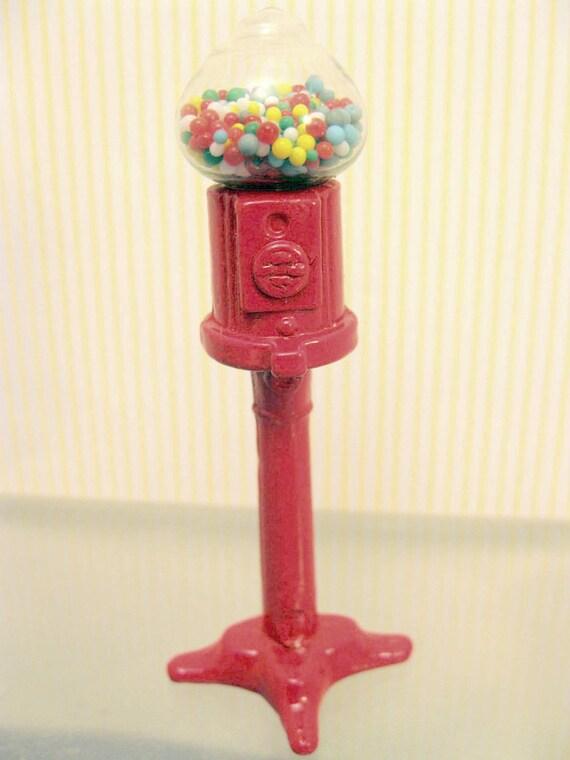 Miniature Gumball Machine General Store Dollhouse