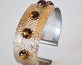 Vintage Cuff Bracelet Tigers Eye