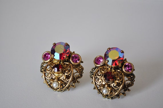 Vintage Victorian Revival Earrings West Germany