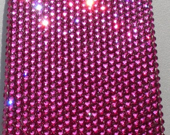 Small 12ss Hot Fuchsia Dark Pink Crystal Diamond Rhinestone BLING Back Case for Apple iPhone 4 4G 4S handmade with 100% Swarovski Elements