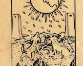 Moon Tarot Patch Print