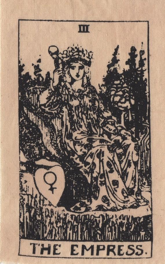 The Empress Tarot Card Patch Print