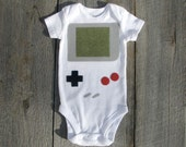 Baby Shower Gift, Retro Onesie, Handheld Video Game Baby Clothes, Baby Geekery, Nerd Baby Gift, Funny Onesie, Baby Boy Clothes, gameboy