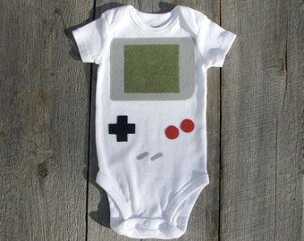 Baby Shower Gift, Retro Bodysuit, Handheld Video Game Baby Clothes, Baby Geekery, Nerd Baby Gift, Funny Baby, Baby Boy Clothes, gameboy