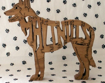 Malinois Handmade Fretwork Jigsaw Puzzle Wood Dog