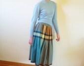 50s skirt - 1950s plaid skirt