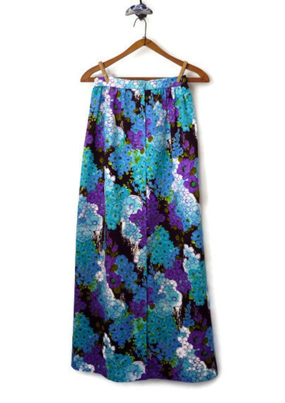 maxi skirt 60s floral maxi skirt by quincevintage on etsy