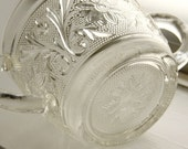 Anchor Hocking Sandwich Crystal Vintage Sugar Dish