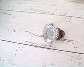 Vintage Decorative  Door Knob Salvaged Glass Cottage Chic Farmhouse Chic Shabby Chic