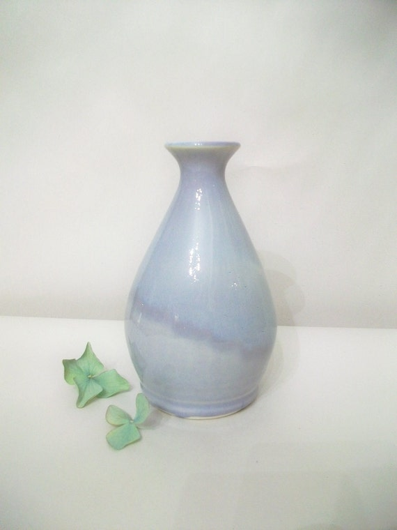 Mothers  Day Vase - Lovely Pale Lavender Small Neck