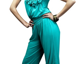 Women's Glory Aqua Jumpsuit- Size Large