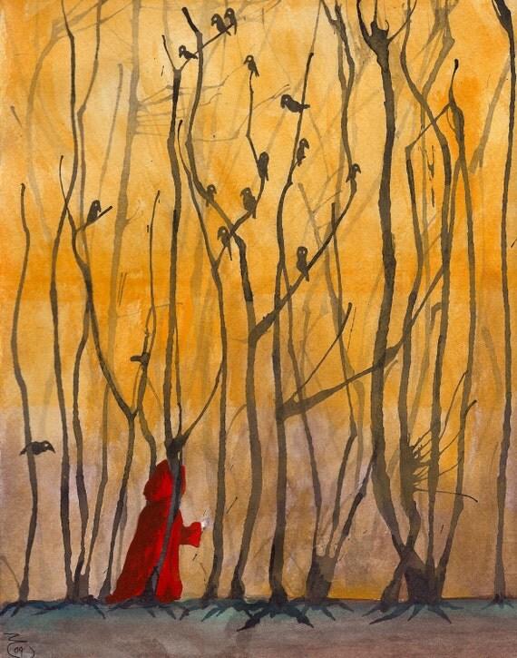 Little Red - Matte Print