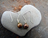 Beautiful brown pearl earrings