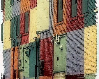 Uptown Minneapolis Painted Building, digital photo, Minnesota art, home decor, wall art, office art, abstract photo, urban