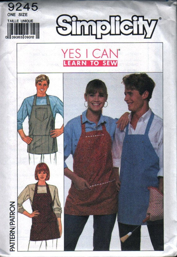 Simplicity 9245 Vintage Aprons for Him and Her Sewing Pattern