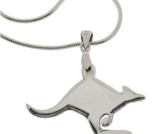 Kangaroo Necklace - Sterling Silver
