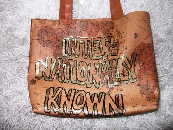 SUPER SALE - Internationally Known Prima Classe Inspired Tote Bag - One Of A Kind
