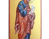 St Peter The Apostle - original handpainted icon, orthodox style, 12 by 6 inches