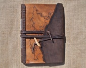 World Map Custom Leather Journal or Sketchbook - Hand Cut, Chiseled, Tooled Engraved, Dyed and Stitched
