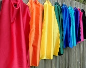 Superhero Birthday -10 Blank  SUPER HERO CAPES - Kids Party Pack - Mix and match from 8 colors