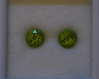 3.2 Total Carats Peridot -  Balanced Yellow Green Hue - Native Cut Rounds - Lovely Dispersion & Scintillation