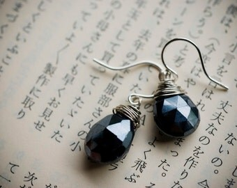 Earrings - black & silver