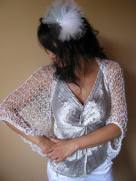 Bridal Shrug - Wedding Clothes- Wedding Shrug - Luxury and Elegant Shrug  Bolero in White