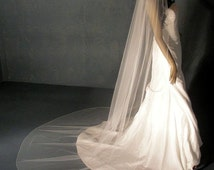 Cathedral Wedding Veil, extra full Classic Bridal veil