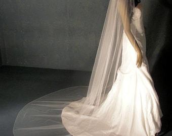 Cathedral Wedding Veil, extra full Classic Bridal veil