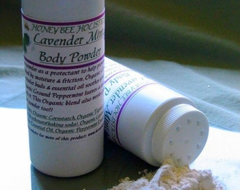 BULK PACKAGE Organic Lavender Mint Body Powder - No talc used - 8 oz. - free of GMO's-