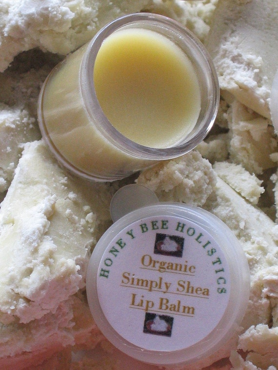 Organic Simply Shea Lip Balm small size pot with Fair Trade Shea Butter and Local Beeswax, 1/2oz