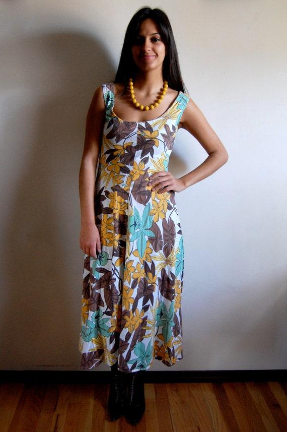 35 clearance sale vintage dress bold tropical floral