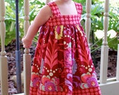 Reverse Knot Dress featuring Amy Butler Love Paradise Garden in Wine Size 6 Months to Size 4T
