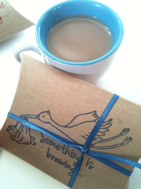 baby shower favors set of 10 hot chocolate or chai tea party