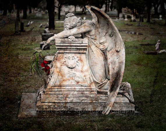 angel of gothic tombstone - photo #19