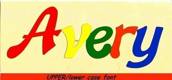 Wooden Custom Name Puzzle - any name (Upper/lowercase)