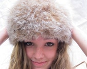 RESERVED -Vintage Lynx  Fur Hat /Canadian / PERFECT / '50's Glam /Unusual /Soft /Supple from Tessiemay