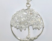 """Tree of Life Pendant with clear quartz - """"Ice Storm"""" - Drakestail"""