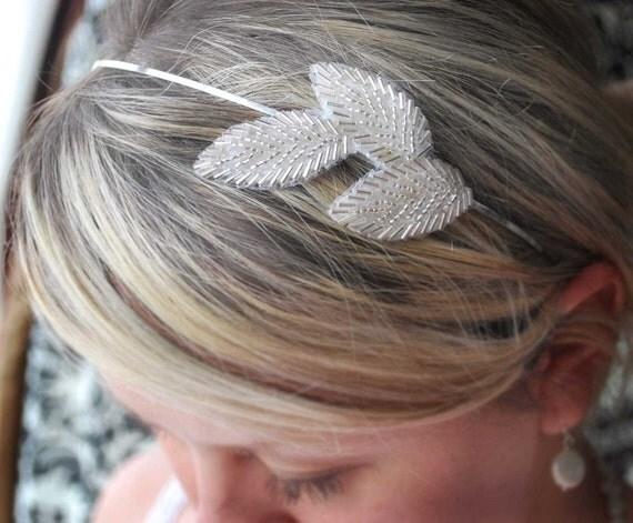 SEASON SALE Art Deco headband - Grecian Goddess -Vintage inspired headband-ATHENA